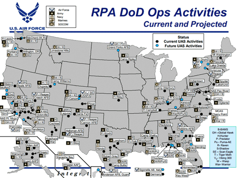 Confronting the American People Thousands of military drones to