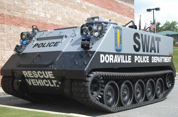 Local police beef it up militarily with Homeland Security