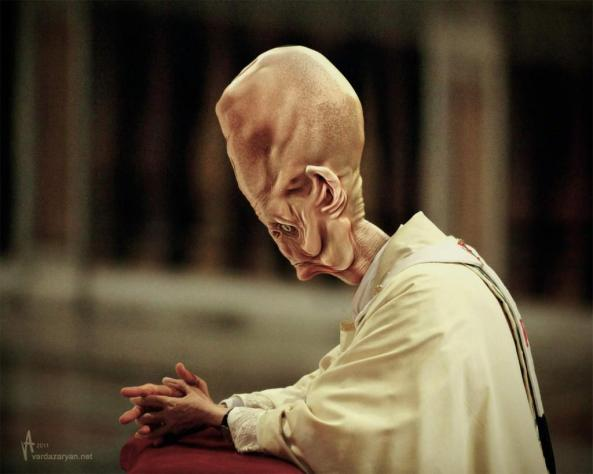 1327318490_Alien Pope prays-by Aram Vardazaryan