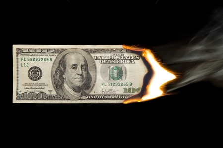 cutcaster-photo-100732389-100-Dollar-Bill-On-Firexxxxx
