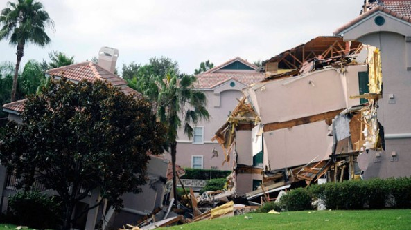 Villa at Summer Bay Resort lies collapsed