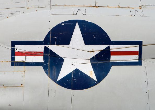 air-force-logo-on-vintage-war-plane-stephanie-mcdowell