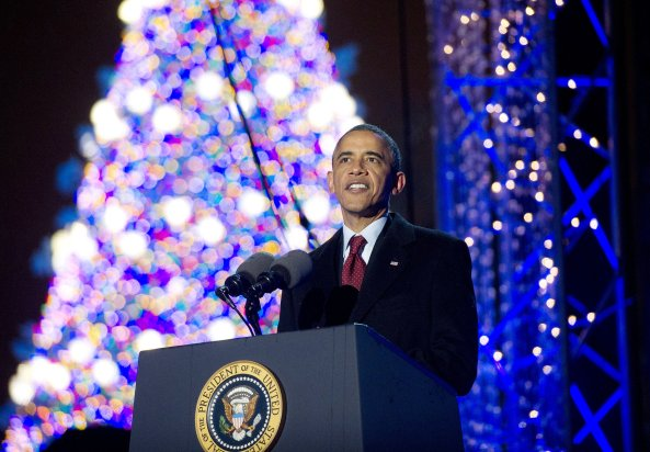 President-Barack-Obama-addressed-crowd-Washington-DC-during